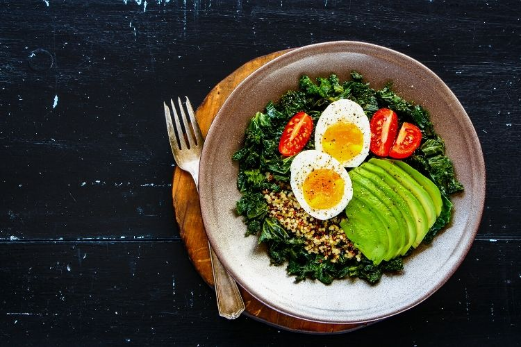 Dirty Kale & Egg Plate