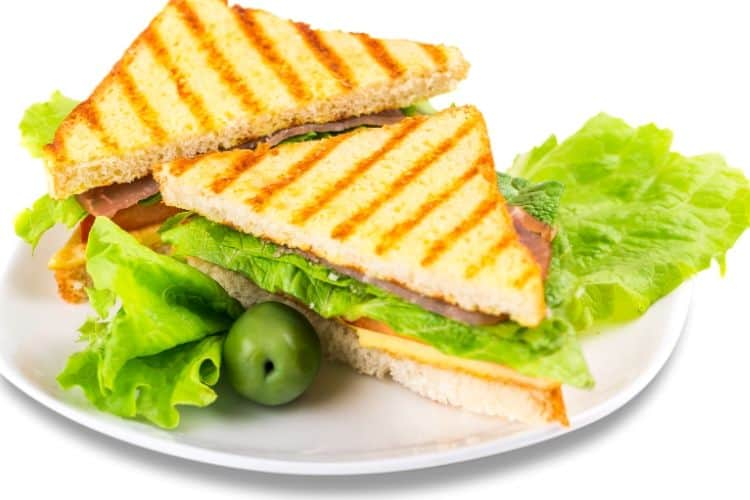 Grilled Blue Cheese, Raspberry, and Basil Sandwich
