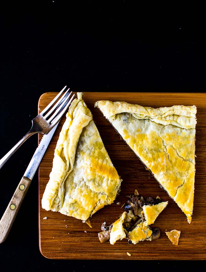Camembert and Mushroom tart via @palettedining