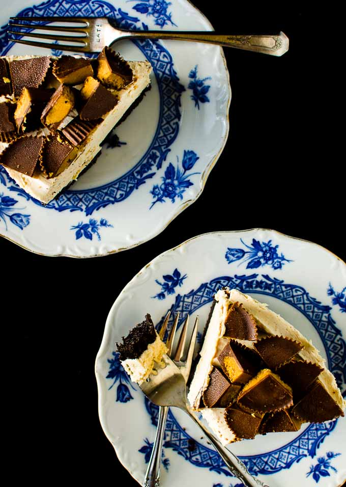 No-Bake Peanut Butter Cup Cheesecake via @mydishisbomb