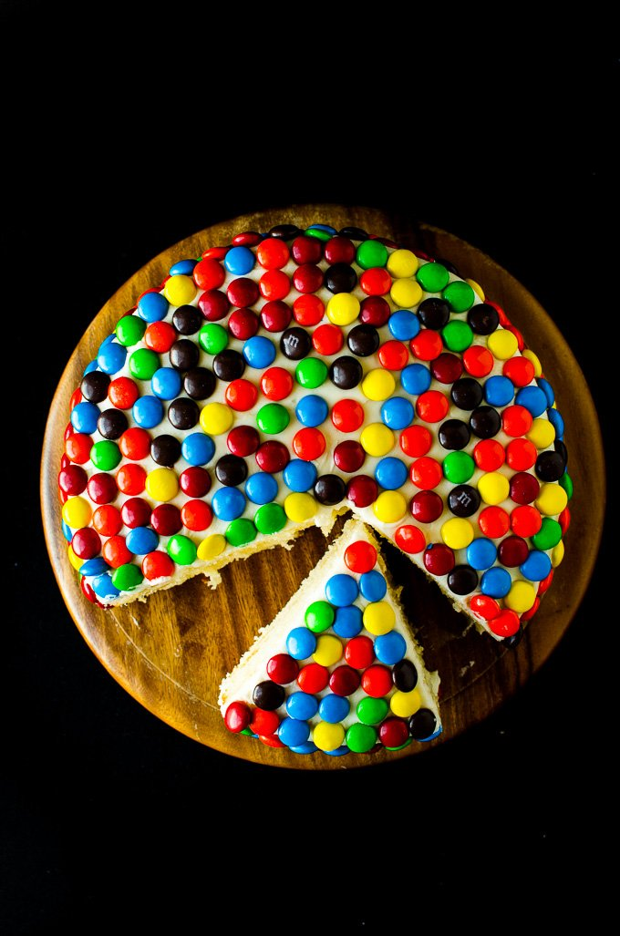 M&M Cake by @mydishisbomb