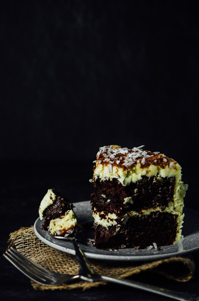 Chocolate Curry Coconut Cake is soft, moist, and has powerful flavours to tempt your palate