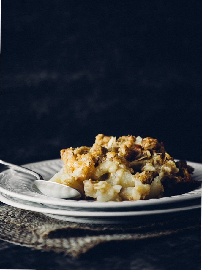 Recipe for Savoury Apple Crisp with Mozzarella and Gorgonzola